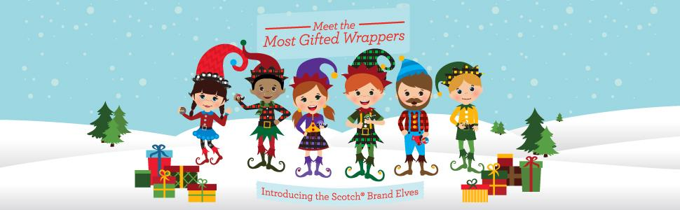 Meet the Most Gifted Wrappers, Introducing the Scotch Brand Elves