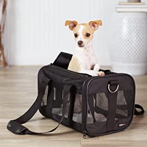 AmazonBasics Black Soft-Sided Pet Carrier - Small