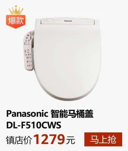 【年终巨惠!全民疯抢!快速加热!现货速发】Panasonic 松下 DL-F510CWS 智能马桶盖 坐便盖 热水脉冲水流自动冲洗 微电控制三档便圈加温