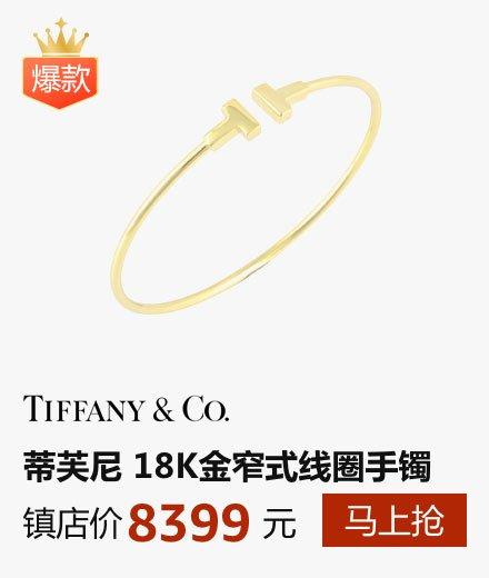 Tiffany 蒂芙尼 T系列 18K金窄式线圈手镯