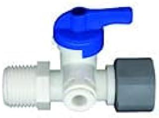 3/8 英寸(约 1.9 厘米)OD 按压式角度停止适配器阀 - 适合 3/8 英寸(约 1.9 厘米)1/4 英寸(约 1.9 厘米)管