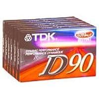TDK 90 分钟音频胶带(6 根装)(D90S6F)(制造商已停产)