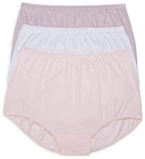Vanity Fair Perfect Yours 棉质内裤 3 件装,L 码,紫色/白色/腮红