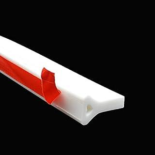 39 英寸(约 99.1 厘米)可折叠淋浴水坝淋浴门槛浴室水栓,白色