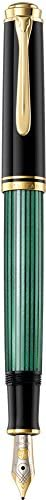Pelikan 百利金 Premium M400 钢笔 F Plume 黑色/绿色