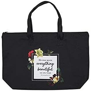He Has Made Everything Beautiful Zipper Tote Bag For Womens 加厚帆布带手柄,3:1,22 x 15 英寸
