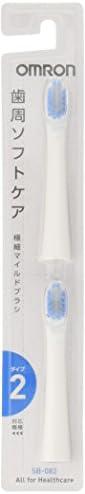 OMRON 欧姆龙 电动牙刷用 替换刷头 极细温和的刷头 2款 (2个装5套) SB-082-5P