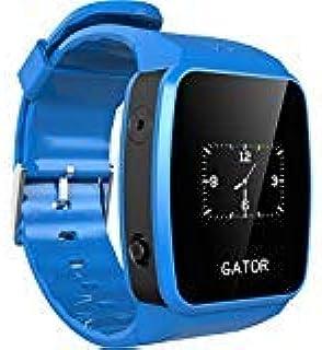 Techsixtyfour - Gator 儿童和老年人防溅智能手表 - GPS 和 Wi-Fi 跟踪 - 双向通话智能手表 带 SIM 的智能手表 - 男孩女孩腕表 - 英国/欧盟Sim - 蓝色