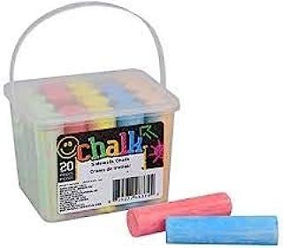 粉笔人行道,20 支装 - 5 种有趣的颜色