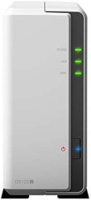 Synology 群晖 DS120j 1托架NAS DiskStation 网络存储器(无盘),512MB DDR3L