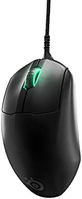 SteelSeries 赛睿 Prime FPS 游戏鼠标 – 18000 CPI TrueMove Pro 光学传感器 – 5个可编程按钮 – 磁性光学开关 – 明亮棱镜 RGB 照明 – 黑色
