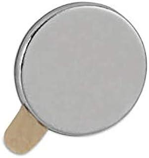 Maul 钕磁铁 自粘 圆形 500 克 粘合力 10 x 1 毫米 浅银 20 件