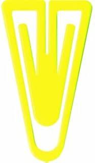 Laurel 回形针 聚苯乙烯塑料夹,60 毫米,袋子,浅黄色