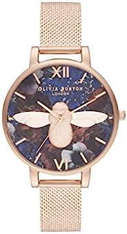 Olivia Burton 女士指针式石英手表不锈钢表带 OB16SP11