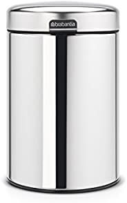 Brabantia 柏宾士 挂壁式垃圾桶 newIcon 带塑料配件 Brilliant Steel 18.4  x  18.3  x   cm