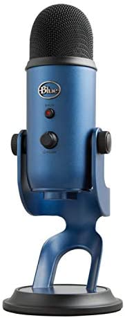 BLUE Yeti USB麦克风,午夜,仅限麦克风(988-000101)