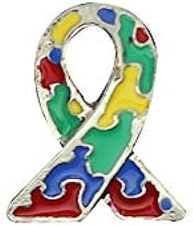 Fundraising For A Caause   小自闭*丝带翻领别针 – 一包中针对自闭*和阿斯伯格的光谱*的意识别针