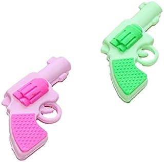 Adam Victor 创意玩具枪橡皮擦 - 2 支铅笔橡皮擦 - 可爱的 3D 可拆卸玩具枪橡皮擦,派对装饰和礼品