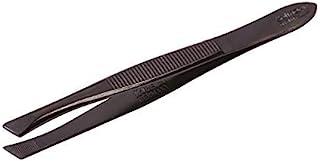 Solingen 514 镊子用于眉形和面部毛发去除|倾斜尖|专业不锈钢|眉毛延长下巴脸颊*佳形状|德国制造(黑色)