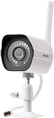 Zmodo 户外*摄像头,1080p 家庭*摄像头系统无线,室内室外无线 WiFi IP 摄像头,夜视,运动警报,与 Alexa,提供云服务