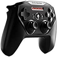 SteelSeries 赛睿 Nimbus+蓝牙移动游戏控制器,带 iPhone支架,电池寿命达50 小时以上, Apple认证,适用于 iOS、iPadOS、tvOS