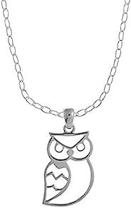 Boma Jewelry 纯银猫头鹰项链,40.64 cm