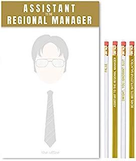 Cool TV Props - The Office Dwight Schrute 记事本和铅笔套装 - 8 X 5 X 1 英寸记事本 - 办公室电视节目商品