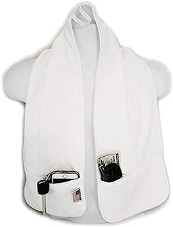 R J Hall 运动毛巾 - 2 个拉链口袋可在您锻炼、锻炼、瑜伽课、健身训练或海滩散步时*存放物品 * 纯棉环 超柔软且吸水性强