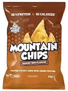 驼鹿肌肉 – 山茶片,添加蛋白质,仅93卡路里   土豆薯片,松脆和滋润,23克(6袋)