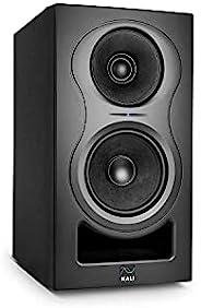 Kali Audio IN-5 近场监听音箱(3 路系统,带同轴中/高音扬声器,带精巧低音反射系统,低失真和透明声音),黑色