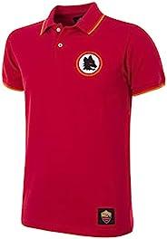Copa 男式 AS Roma 复古 Polo 领 T 恤,红色,XXL 码