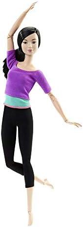Barbie 芭比娃娃 可爱姿势 紫色 7.6x12.7x29.2厘米 关节弯曲 3岁~ DHL84