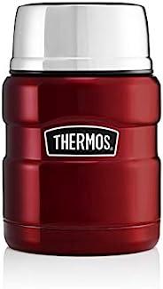 热水瓶不锈钢王食品瓶,红色,470 毫升