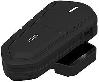 BessieSparks 摩托车头盔耳机 - 蓝牙对讲耳机,无线防水可充电摩托车耳机带麦克风 FM 收音机 MP3