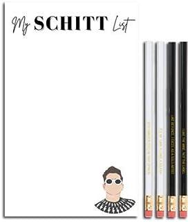炫酷电视道具 - My Schitt List 记事本和 David Rose 铅笔套装 - Schitt's Creek 电视节目商品