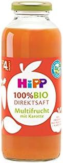 HiPP 喜宝 Bio 婴儿即饮果汁 鲜榨多果胡萝卜汁 适用于4月以上婴儿,6瓶装(6 x 330ml)