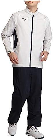 Mizuno 美津浓 高尔夫服 雨衣 Next Light Plus 上下套装 轻量 防水(100次洗涤3级) 耐水压20,000毫米 透湿25,000克/平方米・24h 52MG1A01 男士