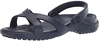 Crocs 女士 Meleen 交叉带凉鞋 | 女式凉鞋 | 涉水鞋