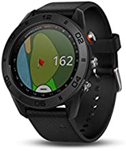 GARMIN 佳明 APPROACH S60高爾夫 GPS 腕表,黑色皮質表帶 1.2 英寸(約 3 厘米) black silicone band 1.2 inches
