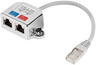 lanberg AD-0026-S Rj45 插头 Rj45 插头 2X 拆分器 快速以太网 T 适配器 灰色