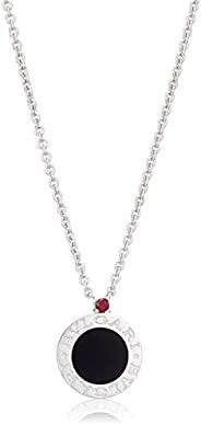 [Brookly] 缟玛瑙 纹银 项链 356910 黑色