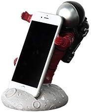 手工制作的書桌手機架,房間裝飾樹脂紅色傾斜宇航員雕像家居裝飾太空人雕像兒童男孩成人臥室裝飾月亮宇航員玩具