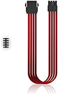 DEEPCOOL PSU 延长线 DP-EC300-CPU8P-RD 红色,345 x 25 x 17 毫米 – 电源线(345 x 25 x 17 毫米)