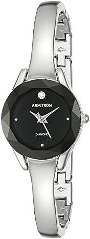 Armitron 女式正品钻石表盘手镯手表,75/5327