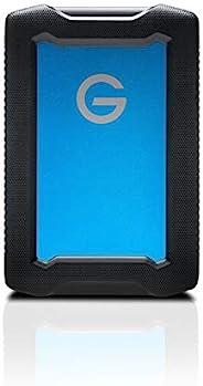 G-Technology 5 TB ArmorATD,坚固防震防水外置硬盘 - USB-C,Thunderbolt 3,USB 3.0,蓝色