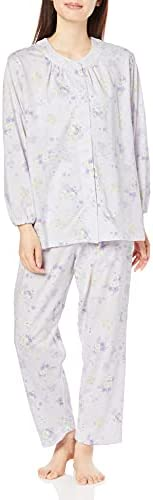 GUNZE 郡是 睡衣 GUNZE 棉 * 保湿加工 天竺棉 长袖长裤 女士