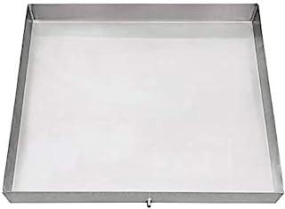 防锈不锈钢洗衣机滴水盘:避免水分损坏和霉菌 - 可定制尺寸的洗衣机托盘 - 焊接边角包括排水孔和软管适配器 银色 30 x 30 SS DRP-PN