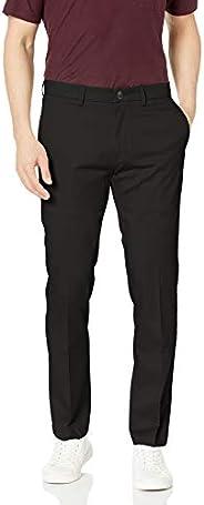 Haggar 男士 优质免烫修身休闲长裤 黑色,29W x 30L