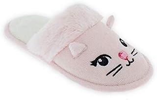 小女孩动物拖鞋和*覆盖独角兽小猫卧室鞋冬季粉色