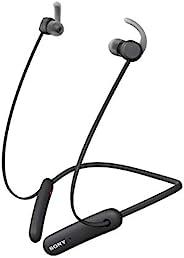 Sony 索尼 WI-SP510 Extra BASS 无线入耳式耳机/耳机带麦克风 适用于电话呼叫体育 IPX5 蓝牙,黑色